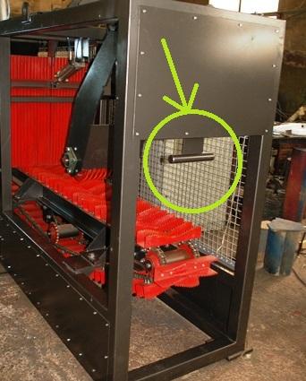 Защитный модуль брусовального двухвального станка с гусеничной подачей мод. «KRAFTER»