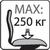 Максимальный вес 250кг