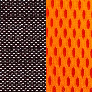 черная/ оранжевая
