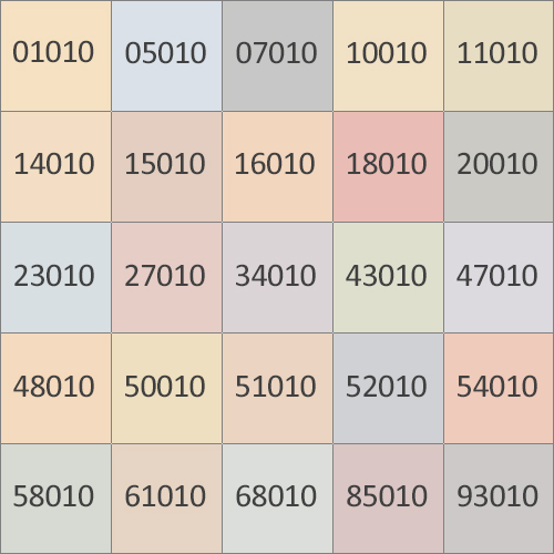 Таблица оттенков Колорсилк