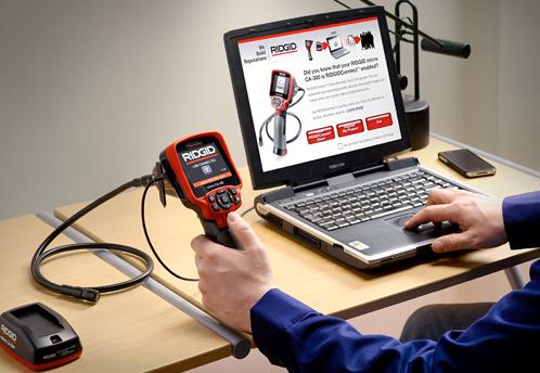 подключение цифровой инспекционной камеры micro CA-300 RIDGID РИДЖИД к ноутбуку