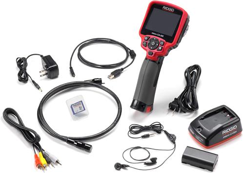 комплектация цифровой инспекционной камеры micro CA-300 ridgid риджид