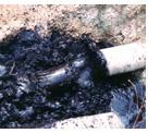 Наносное загрязнение водопровода