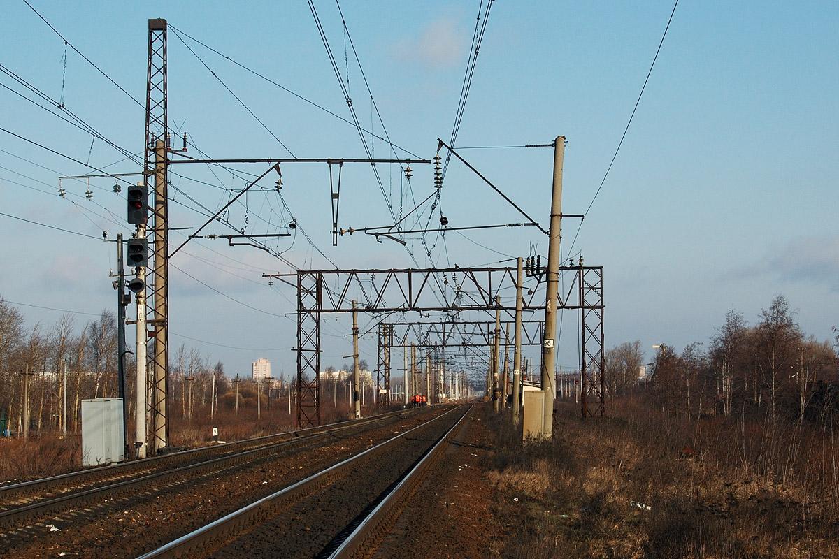 Автоблокировка железных дорог опорами