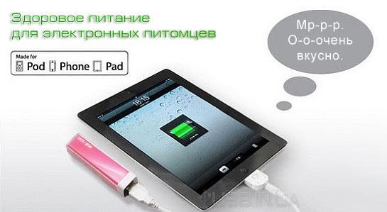 Батарея USB: 2600mAh. Акция! +ЗУ USB
