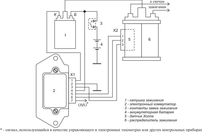 Схема включения коммутатора 3640.3734