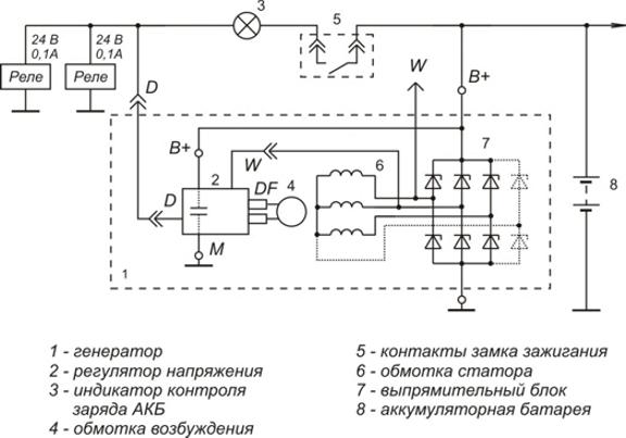 Схема включения регулятора напряжения 9333.3702-28